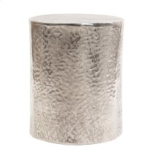 Aluminum Side Table w/ Organic Texture