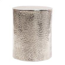 Aluminum Side Table w/ Organic Texture