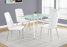 "DINING TABLE - 28""X 48"" / WHITE / 8MM TEMPERED GLASS"