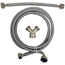 Braided Stainless Steel Steam Dryer Installation Kit