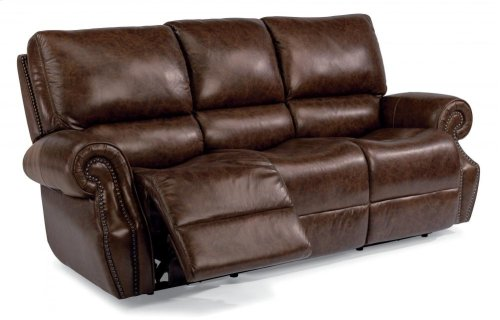 Colton Leather Power Reclining Sofa with Power Headrests