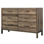 Bianco Dresser with 6 Drawers, Rustic Tuscan Product Image