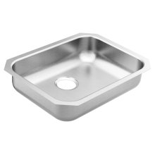 2000 Series 23.5 x 18.25 stainless steel 20 gauge single bowl sink