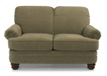 Bay Bridge Leather Loveseat without Nailhead Trim