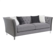 Sofa W/4 Accent Pillows-pewter