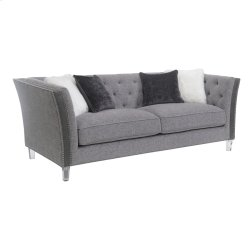 Sofa W/4 Accent Pillows-pewter Product Image