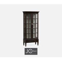 Tall Dark Ale Plank Glazed Display Cabinet