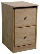 Pine File Drawer Pedestal Product Image