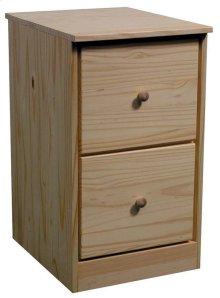 Unfinished Pine File Drawer Pedestal