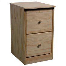 Unfinished Pine File Drawer Pedestal
