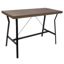 Wishbone Counter Table - Black Metal, Walnut Wood