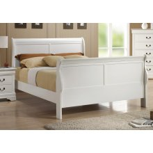 Louis Philippe Traditional Youth White Queen Bed