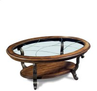 Ambrosia Oval Coffee Table Terra Sienna finish Product Image