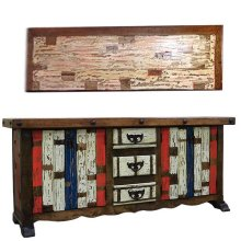 Painted 2 Door/3 Drawer Console