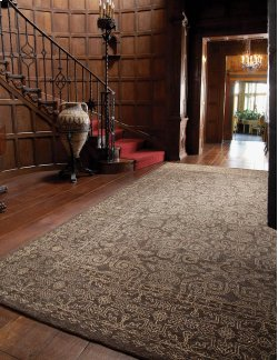Persian Trace Chestnut Hand Knotted Rugs