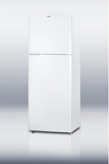 """Counter depth frost-free refrigerator-freezer in white with 26"""" footprint and 13 cu.ft. capacity"""