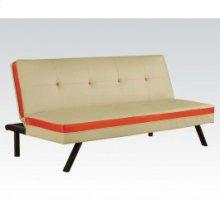 Cream/red Pu Adjustable Sofa