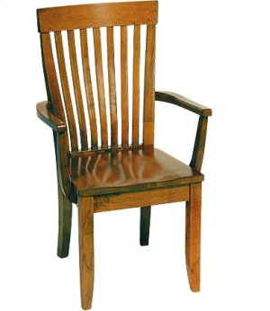 Monterey Arm Chair w/ Wood Seat