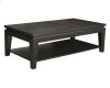 Asia Rectangular Coffee Table With Shelf