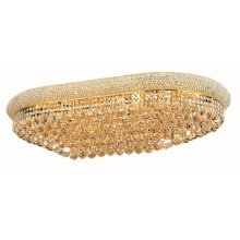 1800 Primo Collection Flush Mount Oval Gold Finish