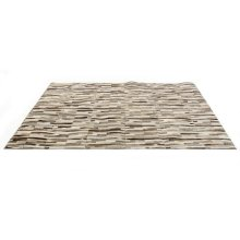 Modrest Stripes by Linie Design Modern Leather Small Area Rug