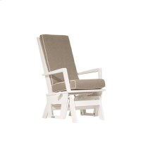 Comfort, style and quality are yours with this transitional glider.