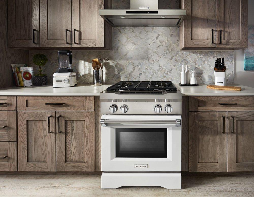 Superbe Kitchenaid 30u0027u0027 4 Burner Dual Fuel Freestanding Range, Commercial Style