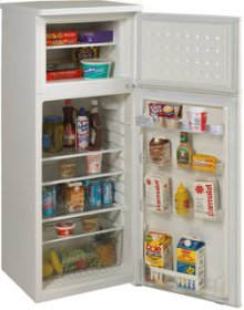 Model RA754WT - 7.5 CF Two Door Apartment Size Refrigerator - White