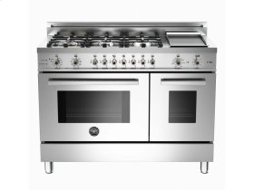 48 6-Burner + Griddle, Electric Self-Clean Double Oven Stainless