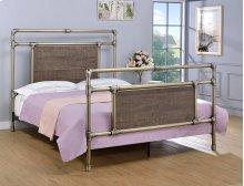 Elkton Bed - Queen, Antique Brass Finish