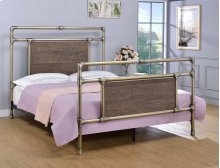 Elkton Bed - Queen, Antique Brass Finish