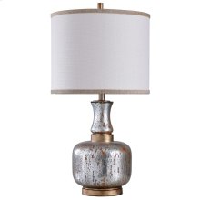 Eirian  Steel and Plated Glass Transitional Design Table Lamp  150 Watts  3-Way
