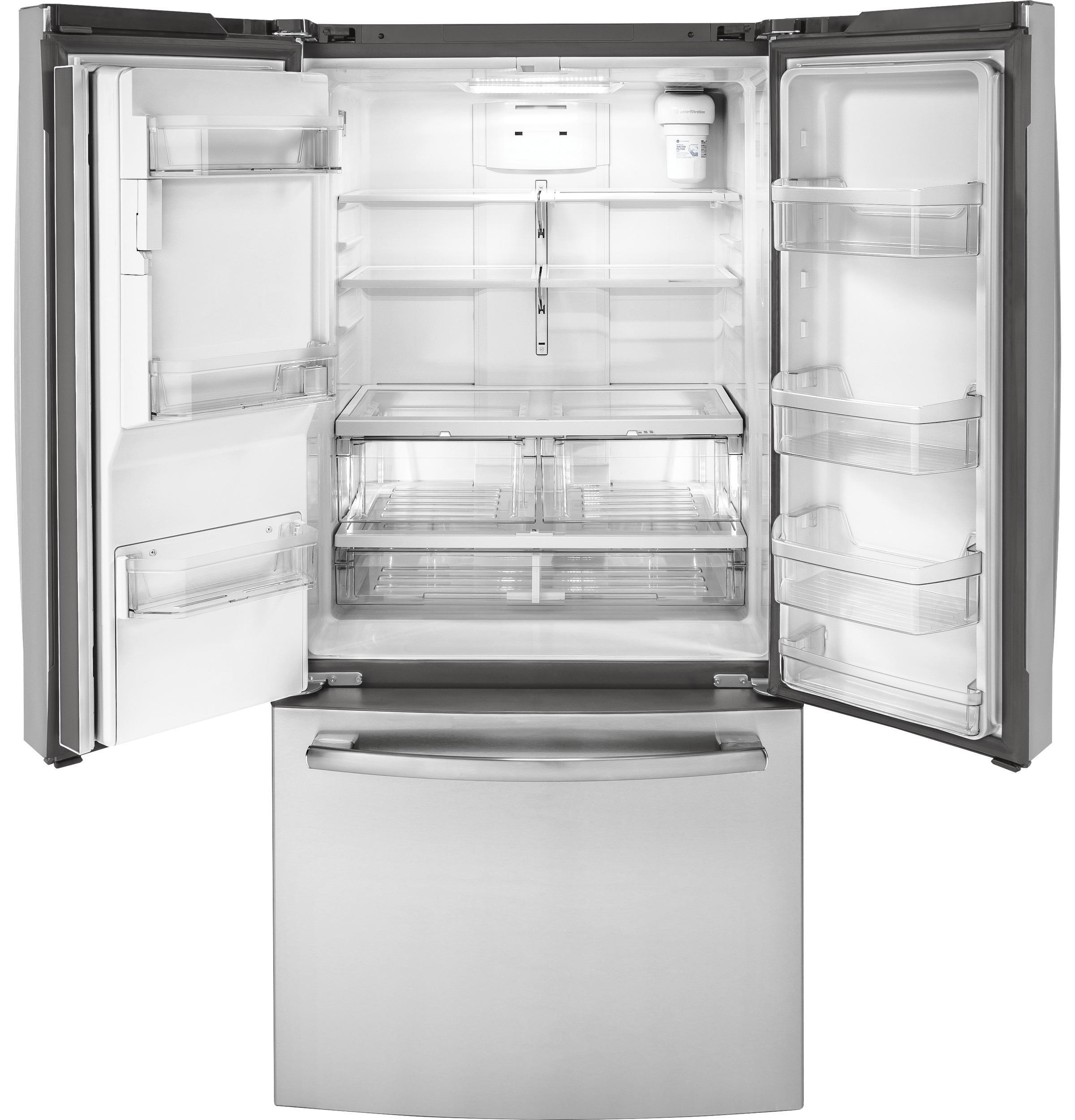 Ge energy star 17 5 cu ft counter depth french door for 17 cu ft french door refrigerator