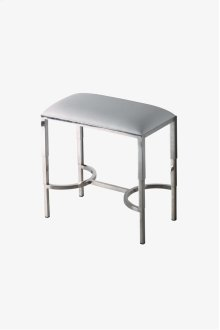 "Easton Metal / Vinyl Rectangular Stool 18"" x 10"" x 16 1/2"" STYLE: EAST04"