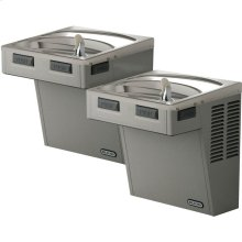 Elkay Wall Mount Bi-Level ADA Cooler, Non-Filtered Non-Refrigerated Light Gray Granite