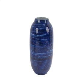 """Ceramic Vase 14"""", Blue"""