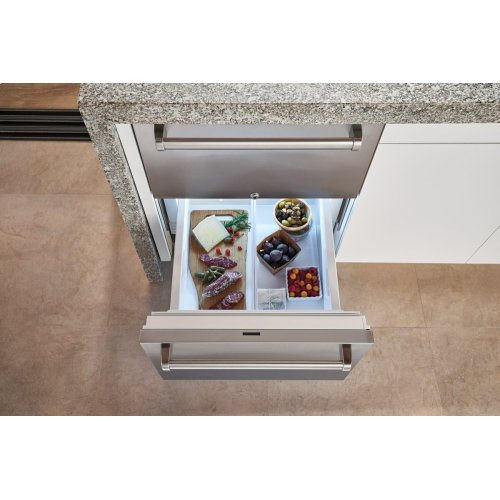 "24"" Designer Outdoor Refrigerator Drawers - Panel Ready"