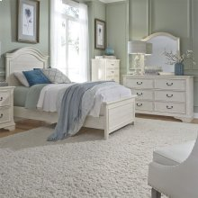 Full Panel Bed, Dresser & Mirror