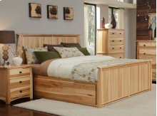 E King Panel Storage Bed
