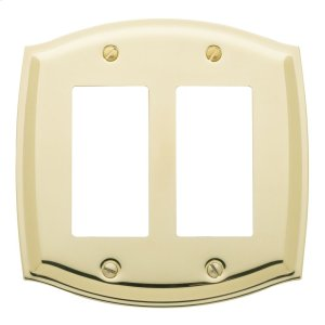 Polished Brass Colonial Double GFCI Product Image