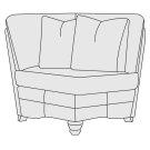 Tarleton Corner Chair in Mocha (751) Product Image