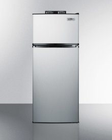 Frost-free Break Room Refrigerator-freezer In Stainless Steel With Nist Calibrated Alarm/thermometers