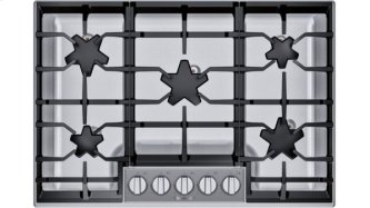 SGSP305TS (R) offers an impressive 30-inch gas cooktop with 5 raised pedestal Star(R) burners, including a center-mounted power burner, and 54,000 BTUs of overall heat output. 30-Inch Masterpiece(R) Pedestal Star(R) Burner Gas Cooktop