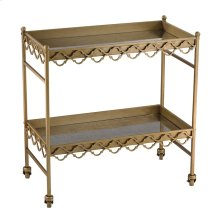 Quatrefoil Bar cart