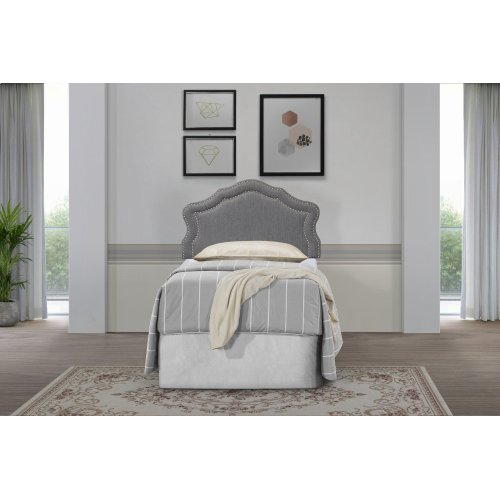 Emerald Home Twin 3/3 Upholstered Headboard Gray #6086-2 B175-08hb-03