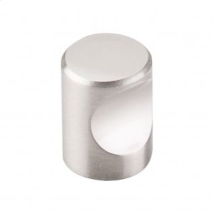 Nouveau Indent Knob 3/4 Inch - Brushed Satin Nickel