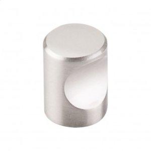 Nouveau Indent Knob 3/4 Inch - Brushed Satin Nickel