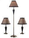 Hunley - 3 Pack - 2 Table Lamps, 1 Floor Lamp
