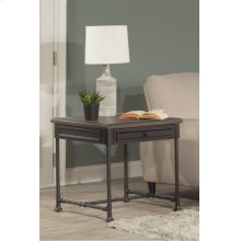 Casselberry End Table (pipe Leg) - Distressed Walnut / Brown Metal