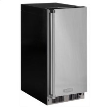 "15"" Clear Ice Machine with Tri-Color Illuminice Lighting - Solid Stainless Steel Door, Integrated Left Hinge, Professional Handle"